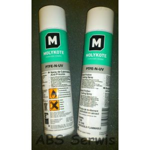 Molykote PTFE-N UV SPRAY 400ml Powłoka Przeciwtarciowa