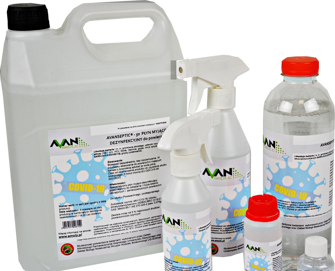płyn do dezynfekcji i mycia powierzchni